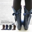 バックリボン付レインブーツ plonger ribbon (プロンジェ リボン)シークレットソール入りのぺたんこラバーシューズ長靴 rain boots レインシューズ